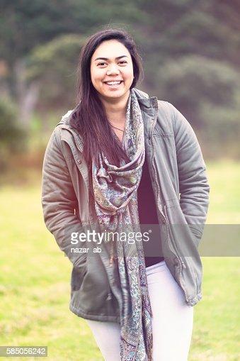 Maori woman. : Stock Photo