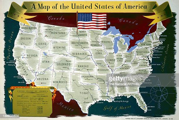USA map 19401945