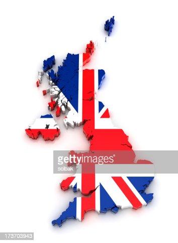 UK map - 3D