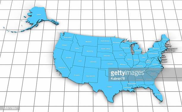 USA Map 3D