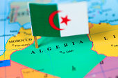 Map and flag of Algeria. Source: World reference atlas