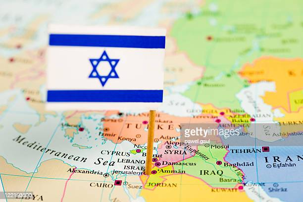 Map and Flag of Israel
