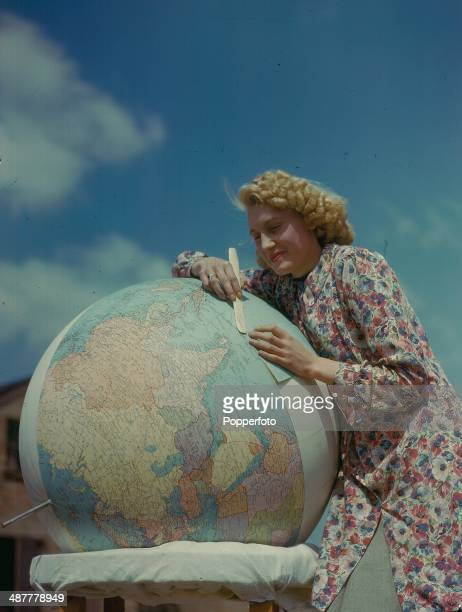 1944 Map and Globe making at George Philip Son during World War Two England May 1944