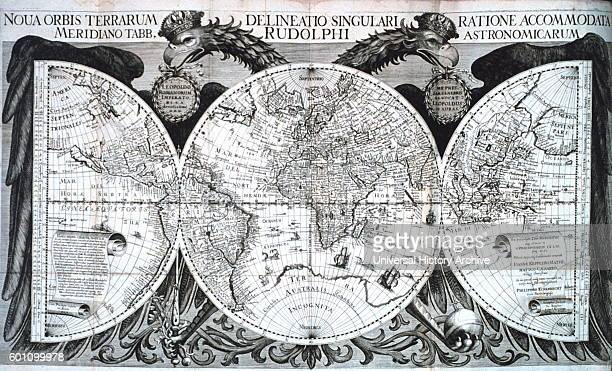 Map from 'Tabulae Rudolphinae quibus astronomicae ' by Johannes Kepler a German mathematician astronomer and astrologer Dated 17th Century