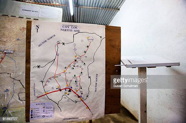 UNAMID map hangs at the Nertiti IDP camp A GoS soldier was shot and injured in the IDP camp on October 10 and had his rifle stolen Fearing reprisals...