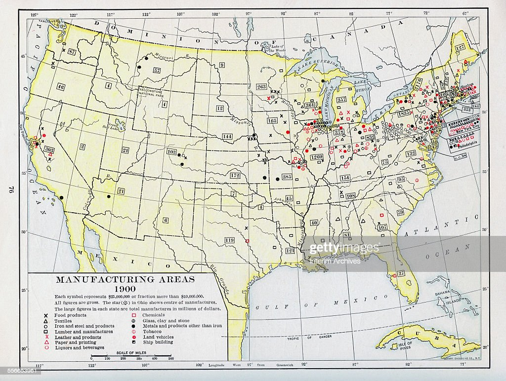 Manufacturing Areas Pictures Getty Images - Us lumber industry map 1900