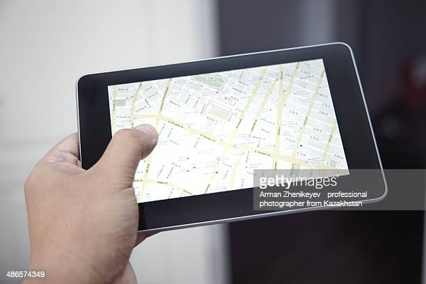 Map in digital tablet