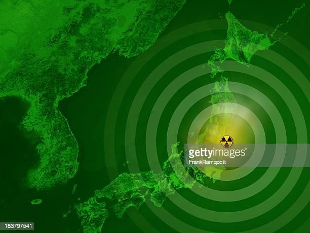 マップ日本の福島原発惨事