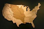 US Map - Louisiana Purchase higlight