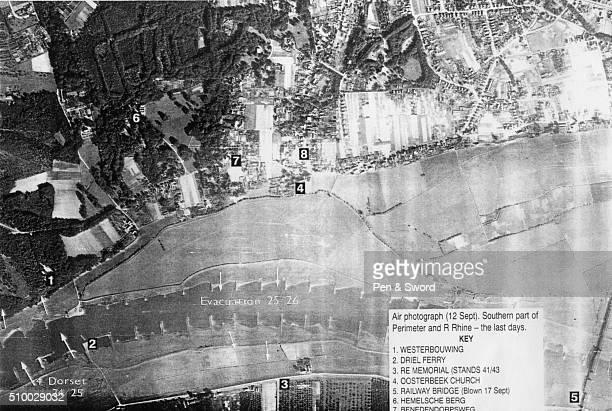 A map marking landmarks in Arnhem September 1944 France