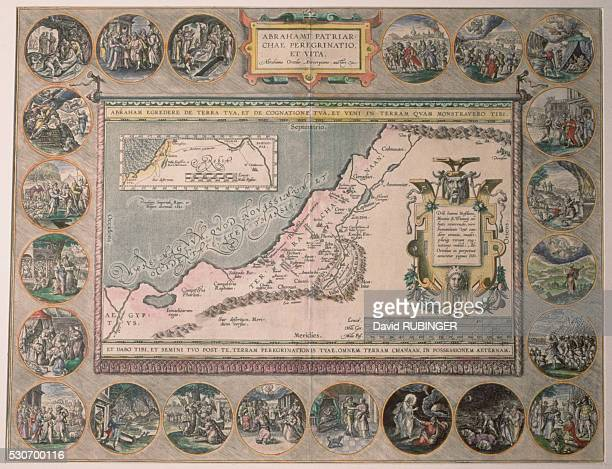 Map of Abraham's Travels by Ortelius of Amsterdam