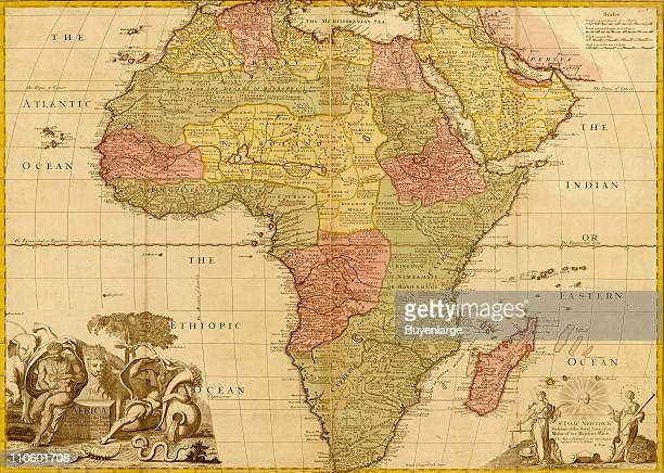 Map of Africa 1688 Illustration by Frederick De Wit