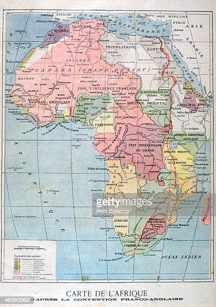 A map of Africa after the The AngloFrench Convention 1899 An illustration from Le Petit Journal 9th April 1899