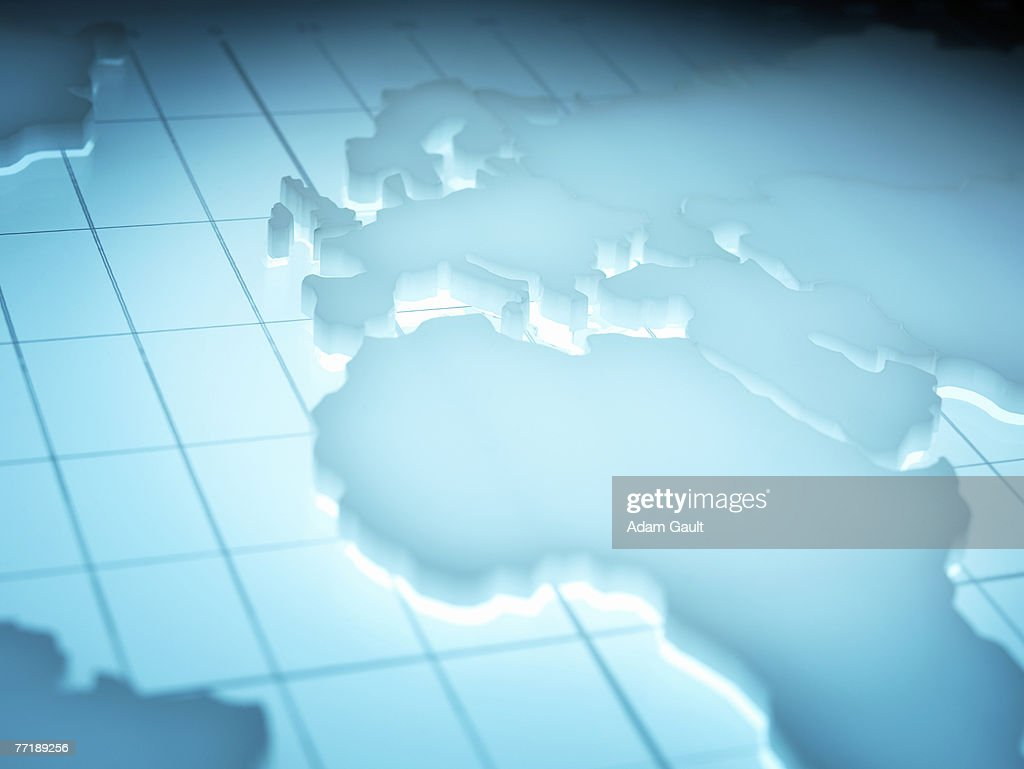Map of Africa and Europe : Stock Photo