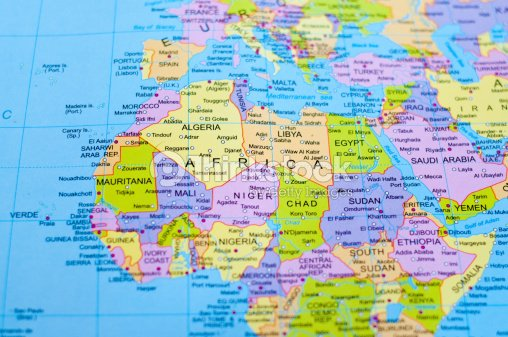 Map of africa stock photo thinkstock map of africa stock photo gumiabroncs Choice Image