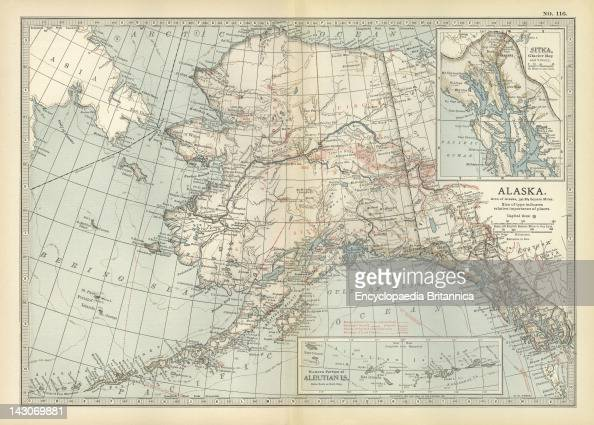 Map Of Alaska Pictures Getty Images - United states map alaska