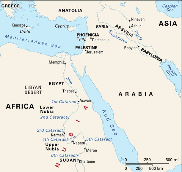 Map Of Ancient Egypt And Nubia In The New Kingdom Pictures - Map of egypt during the new kingdom