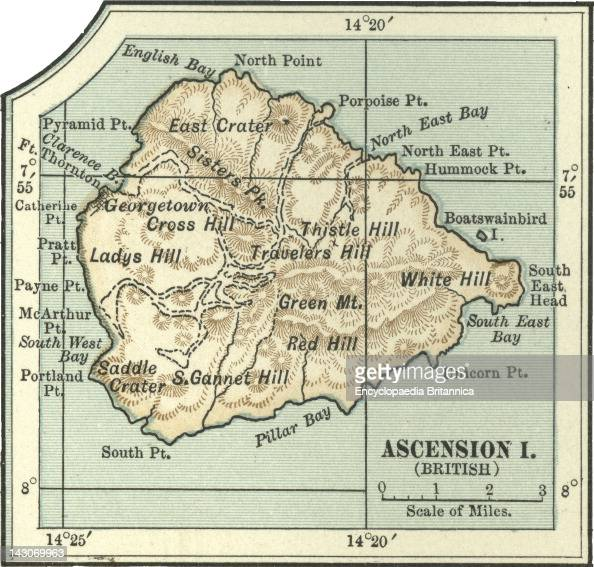 Map Of Long Beach Ascension Island