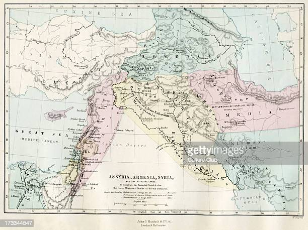 Map of Assyria Armenia Syria and the adjacent lands 19th century map representing the Patriarchal period and the later historical books of the Old...