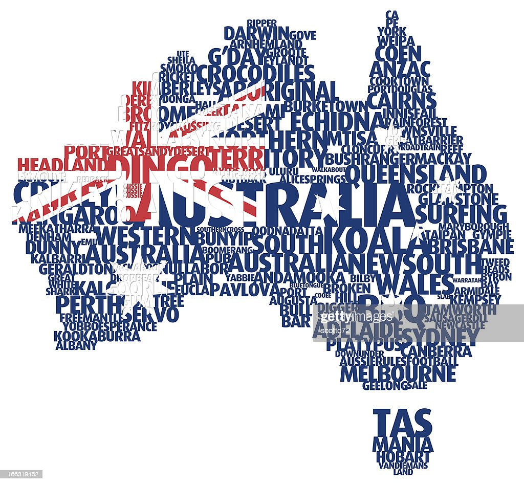 map of australia stock photo getty images