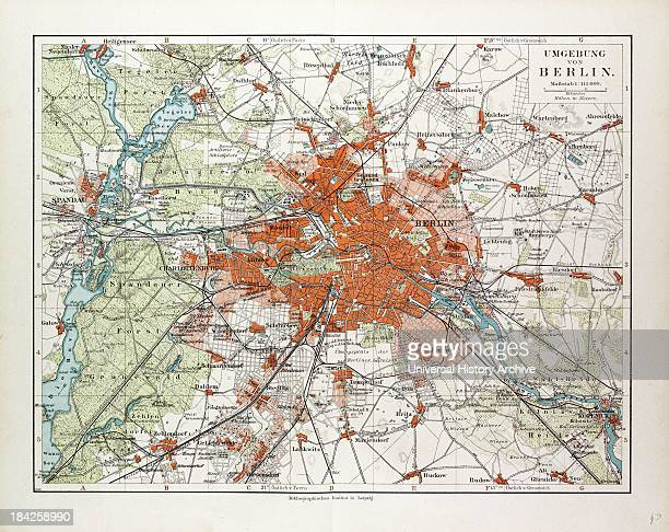 Map Of Berlin And The Surrounding Area Germany 1899