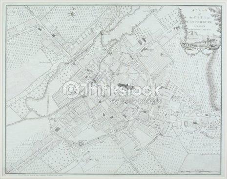 Map Of Canterbury England Stock Photo Thinkstock