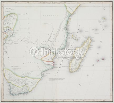 Map Of Cape Of Good Hope And Madagascar Stock Photo | Thinkstock