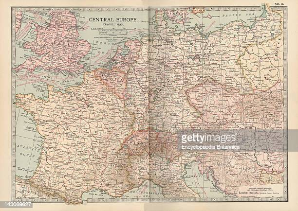 Map Of Central Europe Map Of Central Europe Circa 1902 From The 10Th Edition Of Encyclopaedia Britannica