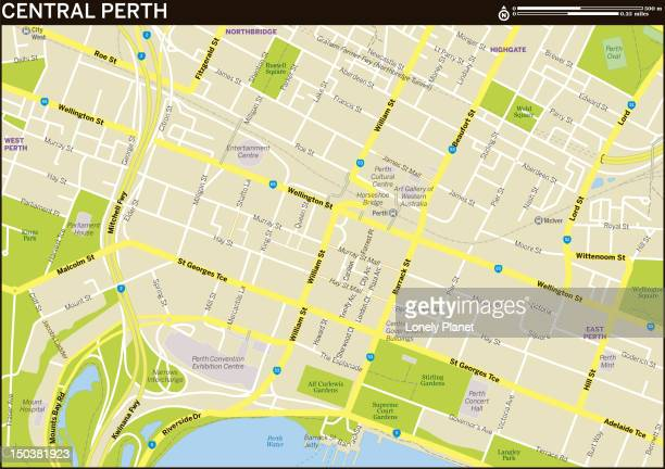 Map of Central Perth.