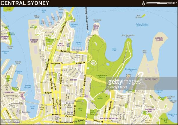 Map of Central Sydney.