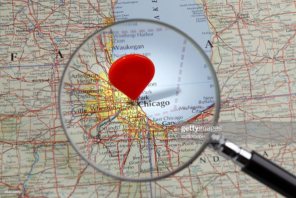 Map of Chicago : Stock Photo