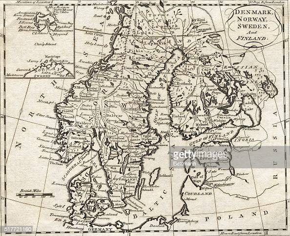 Map Of Denmark Norway Sweden And Finland Pictures Getty Images - Norway map drawing