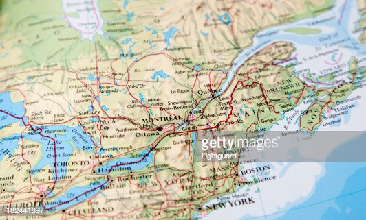 map of eastern canada : Stock Photo