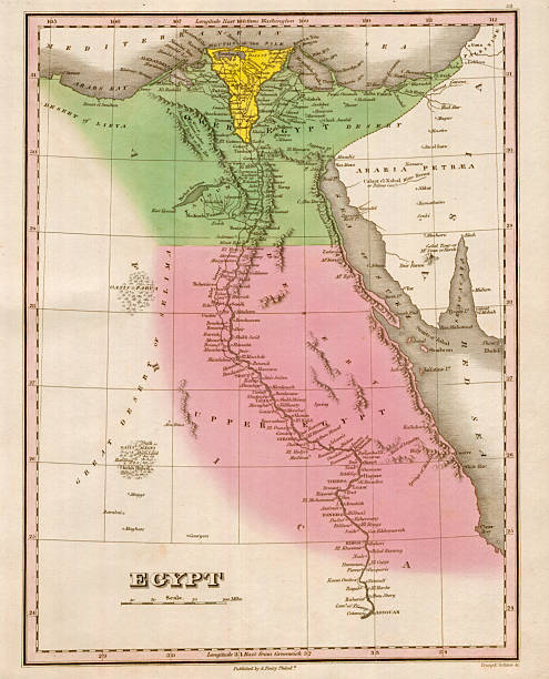 Map Of Egypt Pictures Getty Images - Map of egypt upper and lower