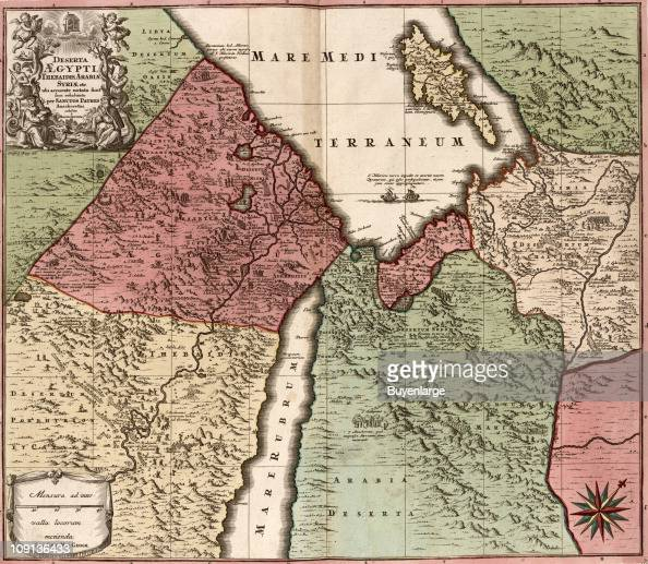 Map Of Egypt Syria And Arabia Pictures Getty Images - Map of egypt and syria