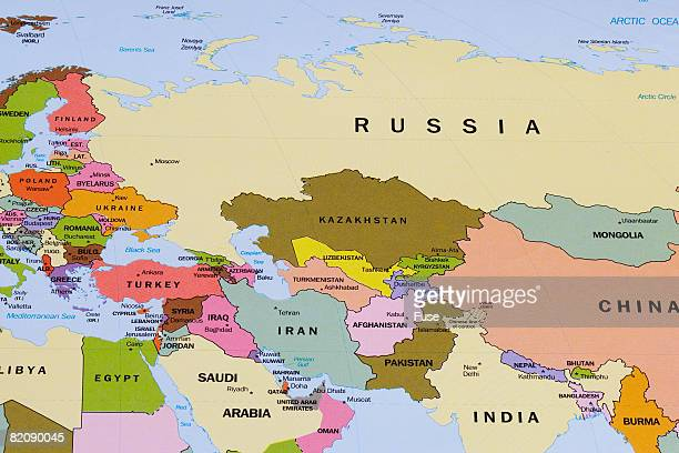 Map of Eurasia and the Middle East
