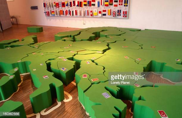 Map of Europe at Zoom Kinder (children)Museum, Museums Quartier, Innere Stadt.
