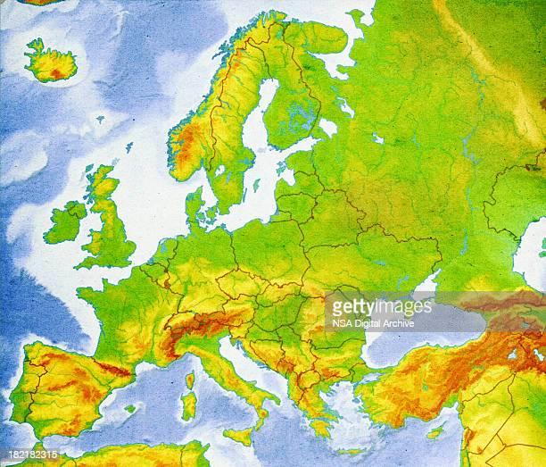 Karte von Europa Nahaufnahme (hochauflösenden Bild