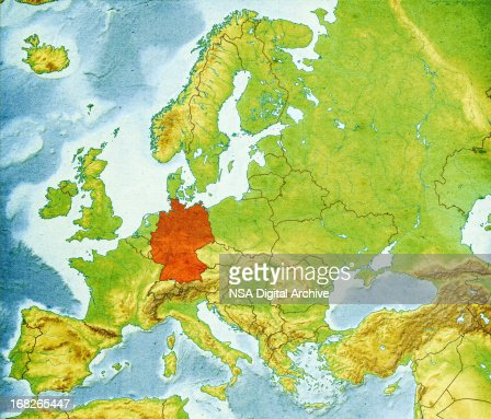 Map Of Europe Closeup Stock Photo Getty Images - Germany map high resolution