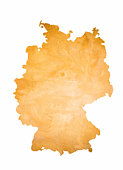 Map of Germany isolated on white