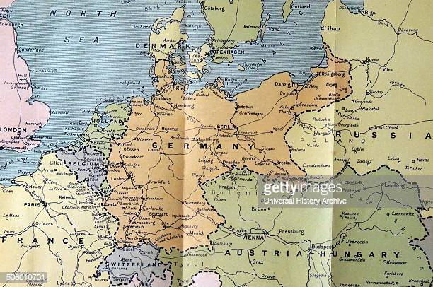 Map of Germany Poland and the low countries 1914