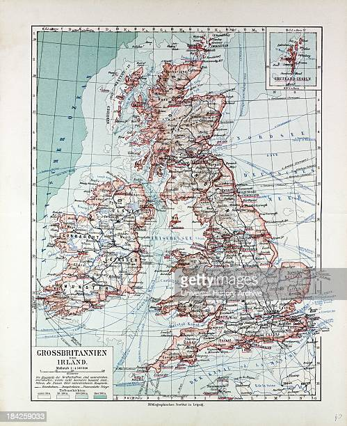 Map Of Great Britain And Ireland 1899