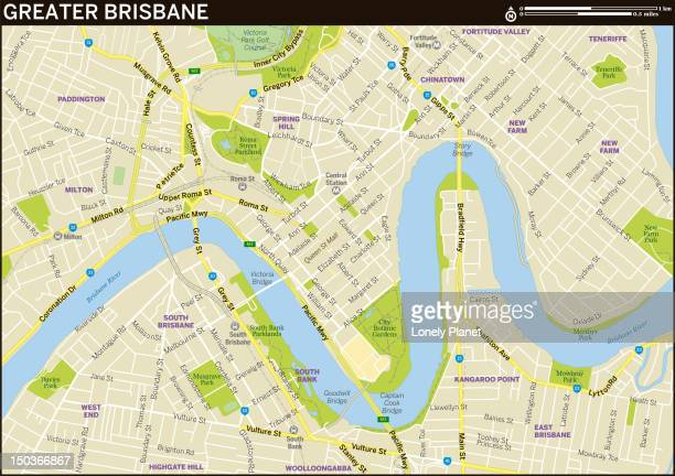 Map of Greater Brisbane.