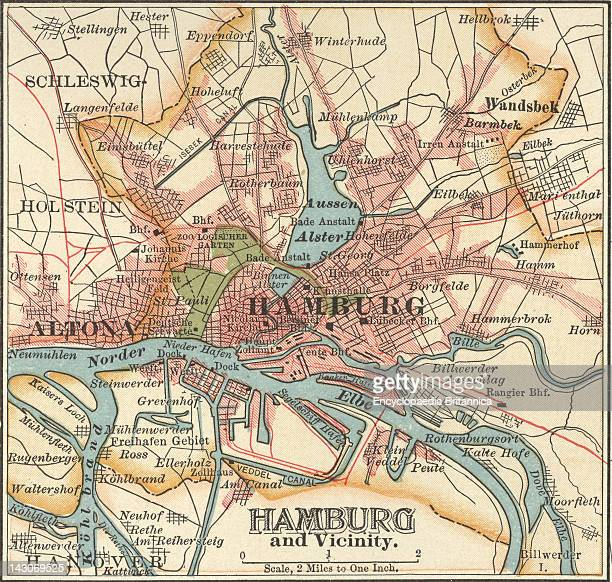 Map Of Hamburg Map Of Hamburg Circa 1900 From The 10Th Edition Of Encyclopaedia Britannica