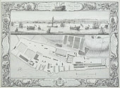 Map of harbor in England