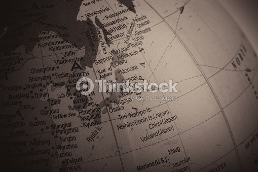Map Of Japan Its Surrounding Countries Stock Photo Thinkstock