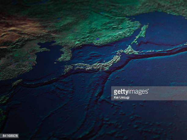 Japan Satellite Stock Photos And Pictures Getty Images - Japan map satellite
