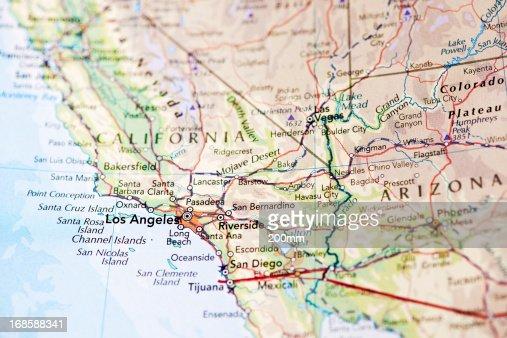 Map of Los Angeles California