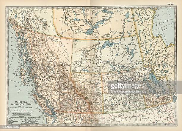 Map Of Manitoba And British Columbia Map Of Manitoba British Columbia And The Northwest Territories Canada Circa 1902 From The 10Th Edition Of...
