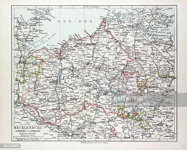 Map Of Mecklenburg Germany 1899